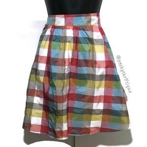 Asos multicolor Midi Skirt A Line Size 10
